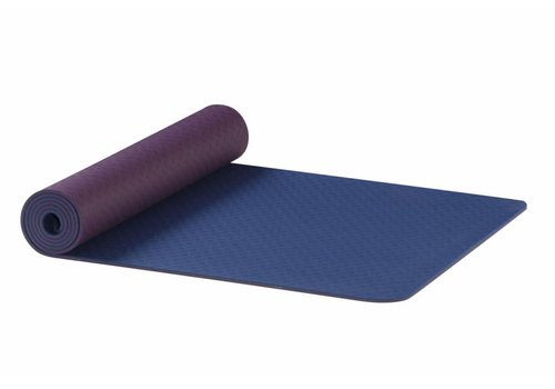 AKO Yoga Earth TPE Yoga Mat - Aubergine-Blauw 6 mm