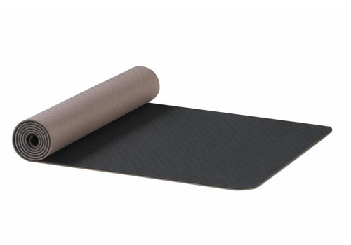 AKO Yoga Earth TPE Yoga Mat - Antraciet-bruin 6 mm