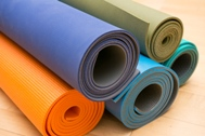 Verschillende materialen yogamatten