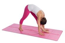 Liforme yoga mat in actie