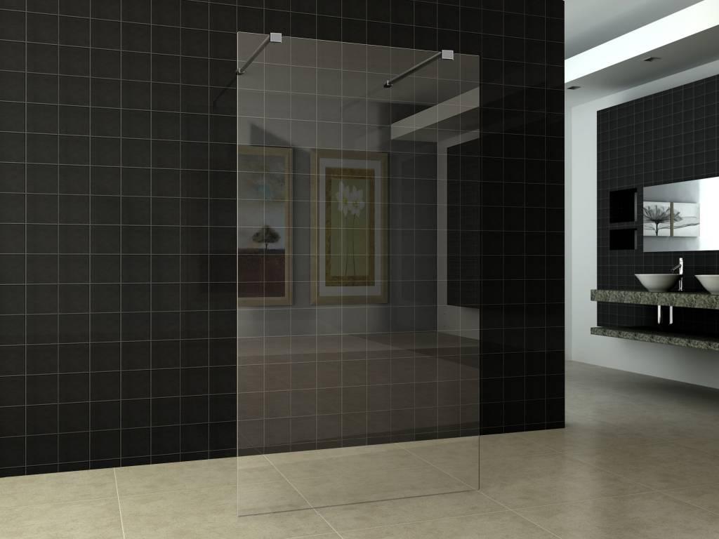 Inloopdouche Met Sanitair : Wiesbaden inloopdouche vrijstaand 1200x2000 10mm nano glas
