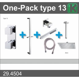 Wiesbaden One-Pack inbouwthermostaatset type 13 (20cm)