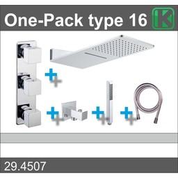 Wiesbaden One-Pack inbouwthermostaatset type 16 (24x55)
