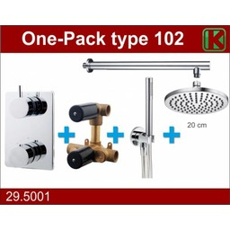 Wiesbaden One-Pack inbouwthermostaatset rond type 102 (20cm)