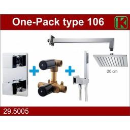 Wiesbaden One-Pack inbouwthermostaatset vierk.type 106 (20cm)