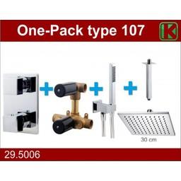 Wiesbaden One-Pack inbouwthermostaatset vierk.type 107 (30cm)