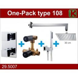 Wiesbaden One-Pack inbouwthermostaatset vierk.type 108 (30cm)