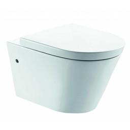 Wiesbaden Flow rim free toiletwandcloset 55cm + zitting diepspoel wit