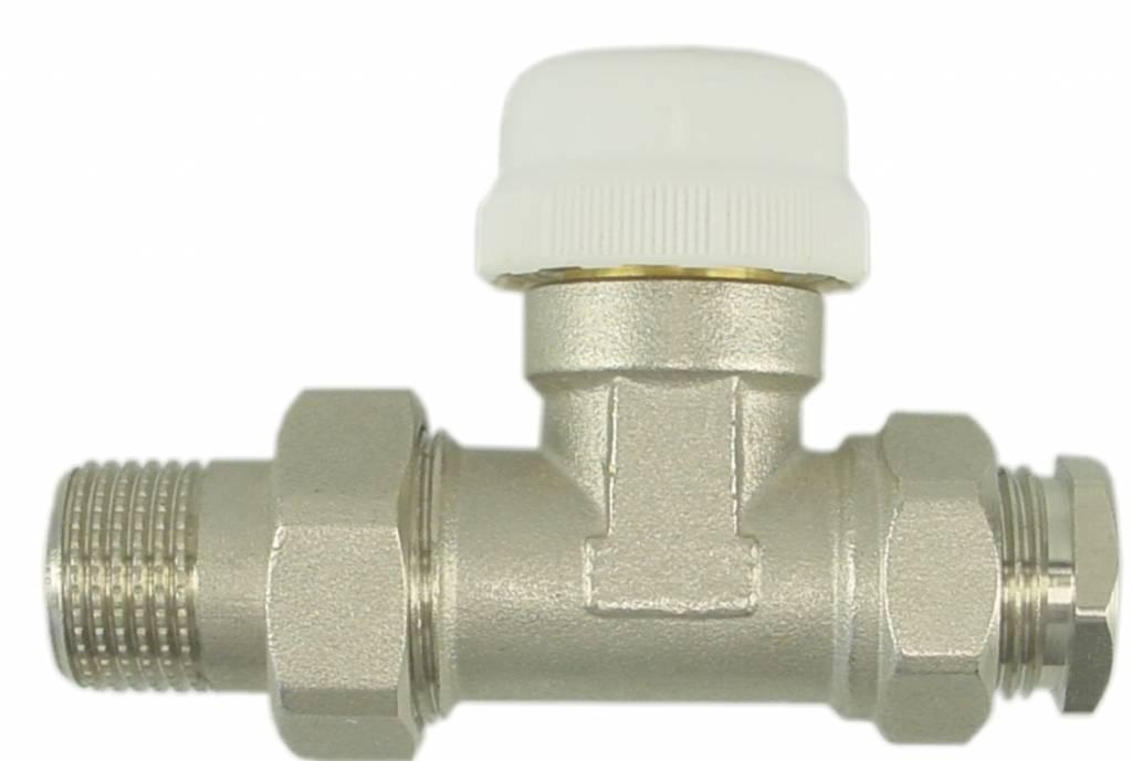 Riko Riko thermostatische radiatorkraan inc. adapter 15mm 1/2 recht
