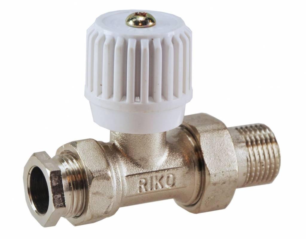 Riko Riko Radiatorkraan inc. adapter 15mm 1/2 recht