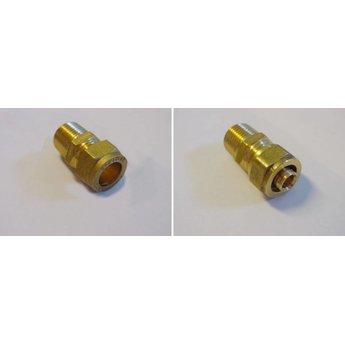 Riko Riko adapter (alu)pex  16x2 voor knelkoppeling 15mm