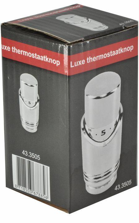 Riko Riko luxe thermostaatknop M30x1.5 chroom