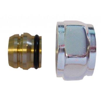 Riko Riko luxe adapter chroom 3/4-15mm voor luxe onderblokken