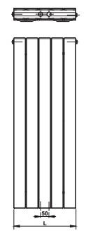Korado Koratherm verticale radiator T11, diverse maten, gestreepte voorzijde, kleur wit