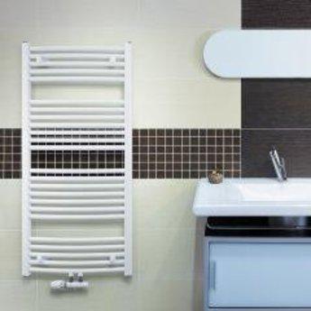 Korado Koralux handdoekradiator middenaansluiting, wit, gebogen, diverse maten