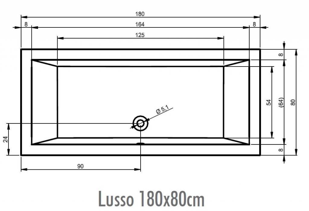 Riho Lusso bad 180x80 EASYPOOL 1 wit glans