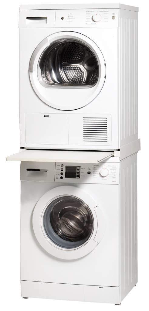 saniglow tussenstuk voor wasmachine en droger met lade saniglow kwaliteits sanitair en verwarming. Black Bedroom Furniture Sets. Home Design Ideas