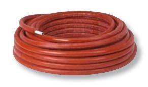 Henco Henco 26x3 met isolatie rood 6mm, rol 25 meter