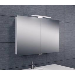 Wiesbaden Luxe spiegelkast + Led verlichting 90x60x14cm