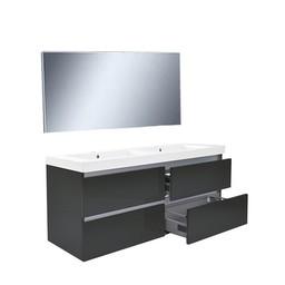 Wiesbaden Vision meubelset (incl. spiegel) 120 cm hoogglans grijs