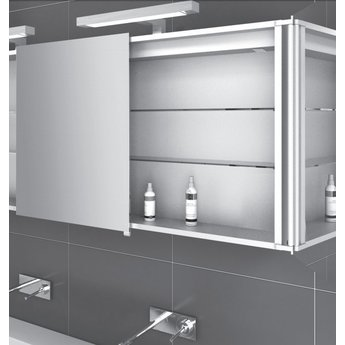 wiesbaden luxe spiegelkast led verlichting 160x60x14cm saniglow kwaliteits sanitair en. Black Bedroom Furniture Sets. Home Design Ideas