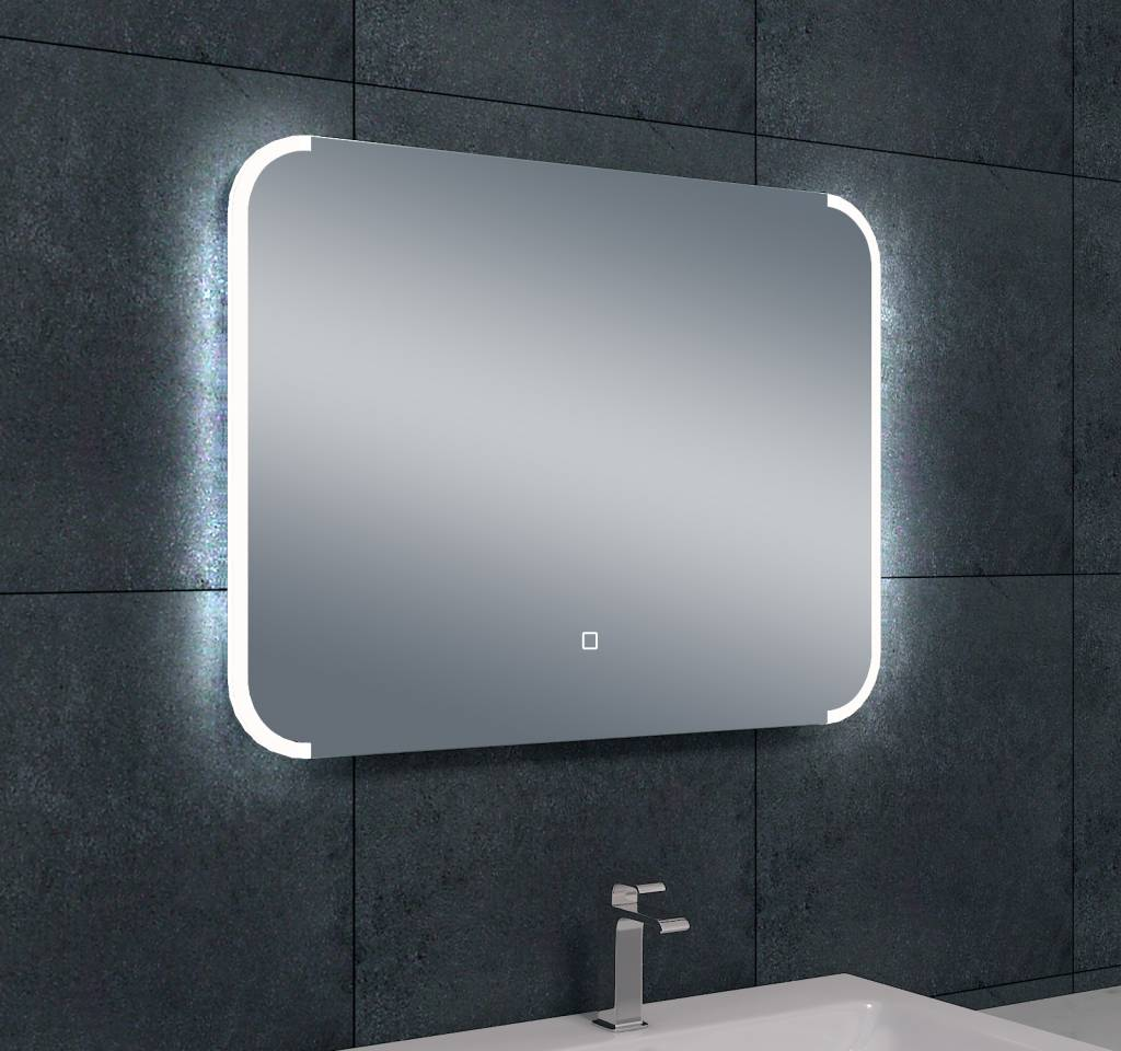 Wiesbaden bracket dimbare led condensvrije spiegel 800x600 for Badkamer spiegel 60x80