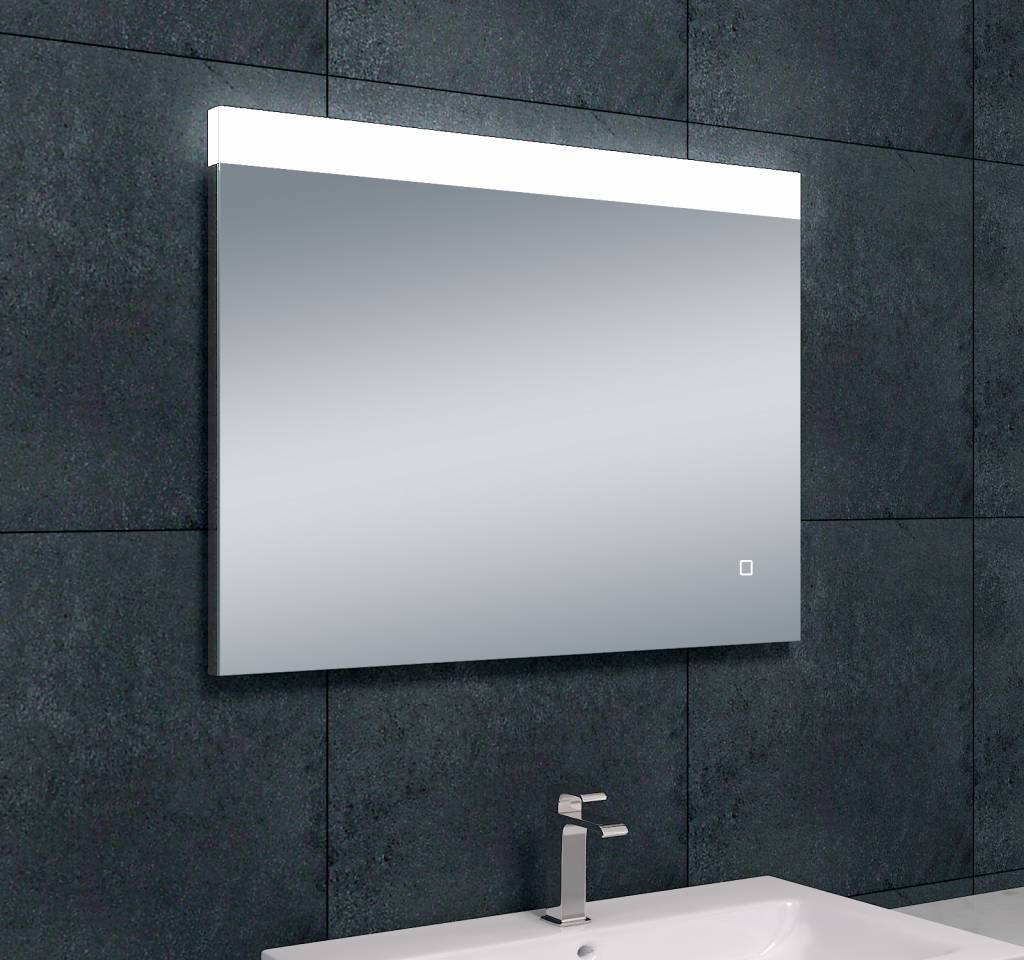 Wiesbaden single dimbare led condensvrije spiegel 800x600 for Badkamer spiegel 60x80