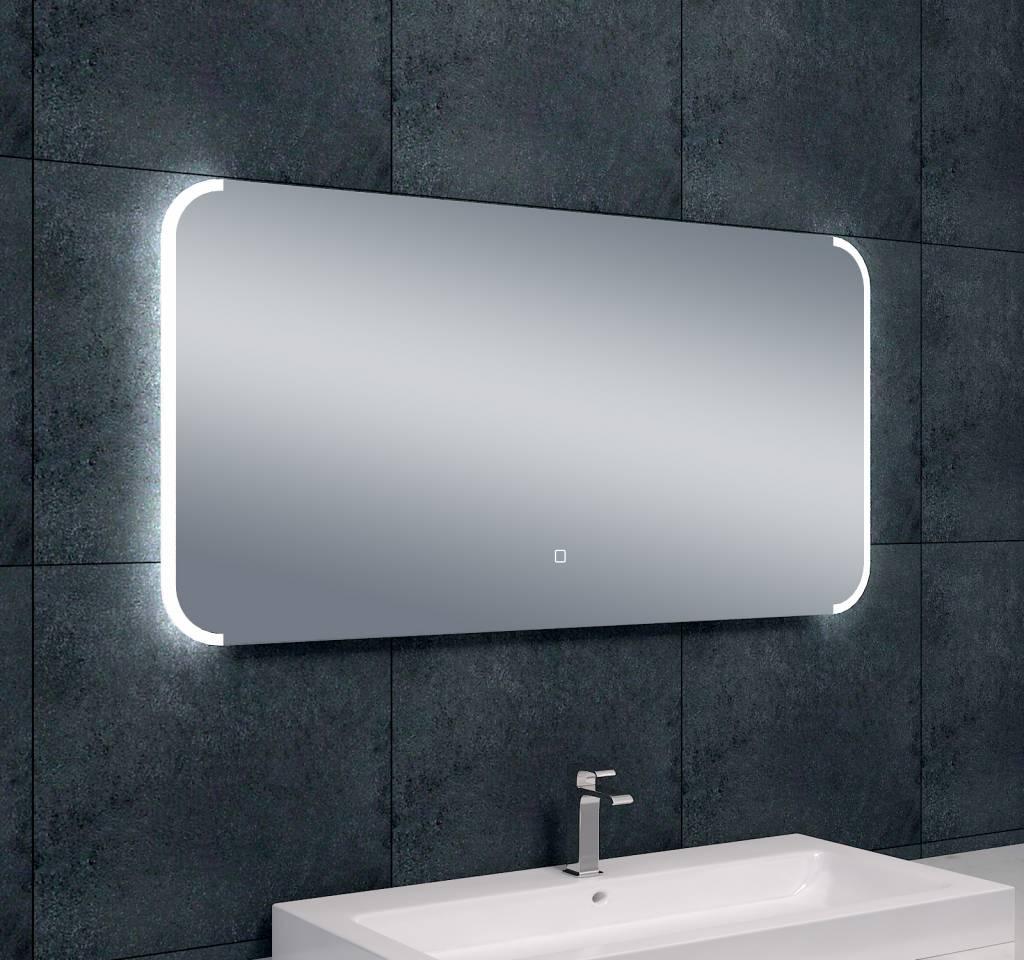 Wiesbaden bracket dimbare led condensvrije spiegel for Led spiegel