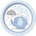 Baby Shower blue bord 23cm a8