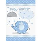 Baby Shower blue uitnodiging a8