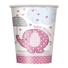 Baby Shower pink beker a8