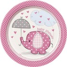 Baby Shower pink bord 18cm a8