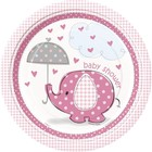 Baby Shower pink bord 23cm a8