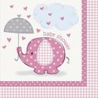 Baby Shower pink servet a16