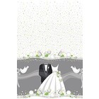 Bruidspaar Tafelkleed plastic