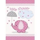 Baby Shower pink uitnodiging a8