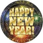 Happy New Year bord 18cm a8*