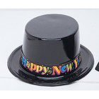 Hoge hoed Happy New Year plastic*