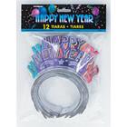 Tiara Happy New Year glitter - 12 stuks*
