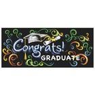 Graduate Congrats! muur banner 152 x 68,5cm*