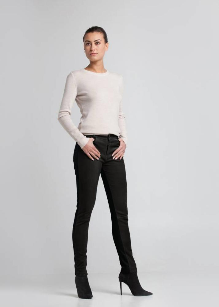 Leather pants FELICE Onyx