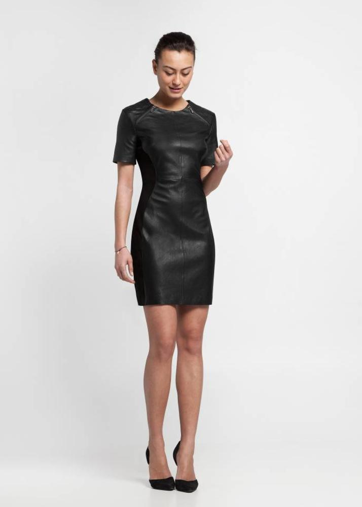 leather dress onyx