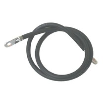 BATTERY CABLES w/soldered terminals BLACK/1.2m