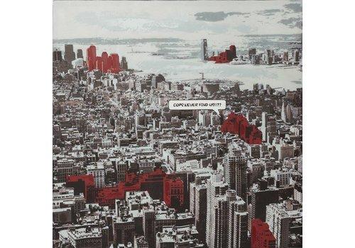Schilderij stadsoverzicht