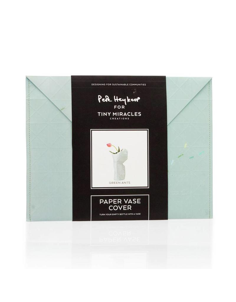 Paper Vase Cover Green Ants