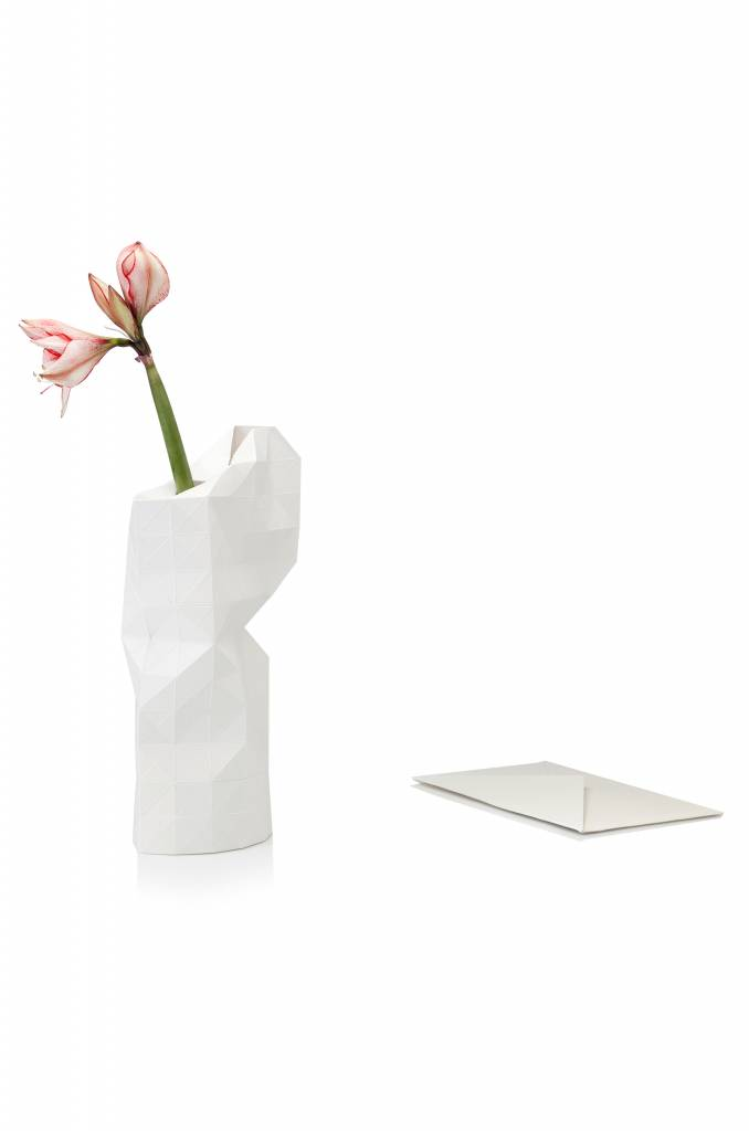 Paper Vase Cover White