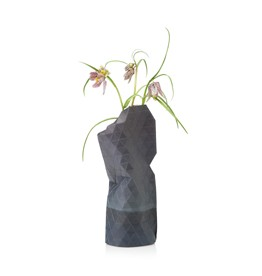 Paper Vase Cover Watercolour Grey (small)