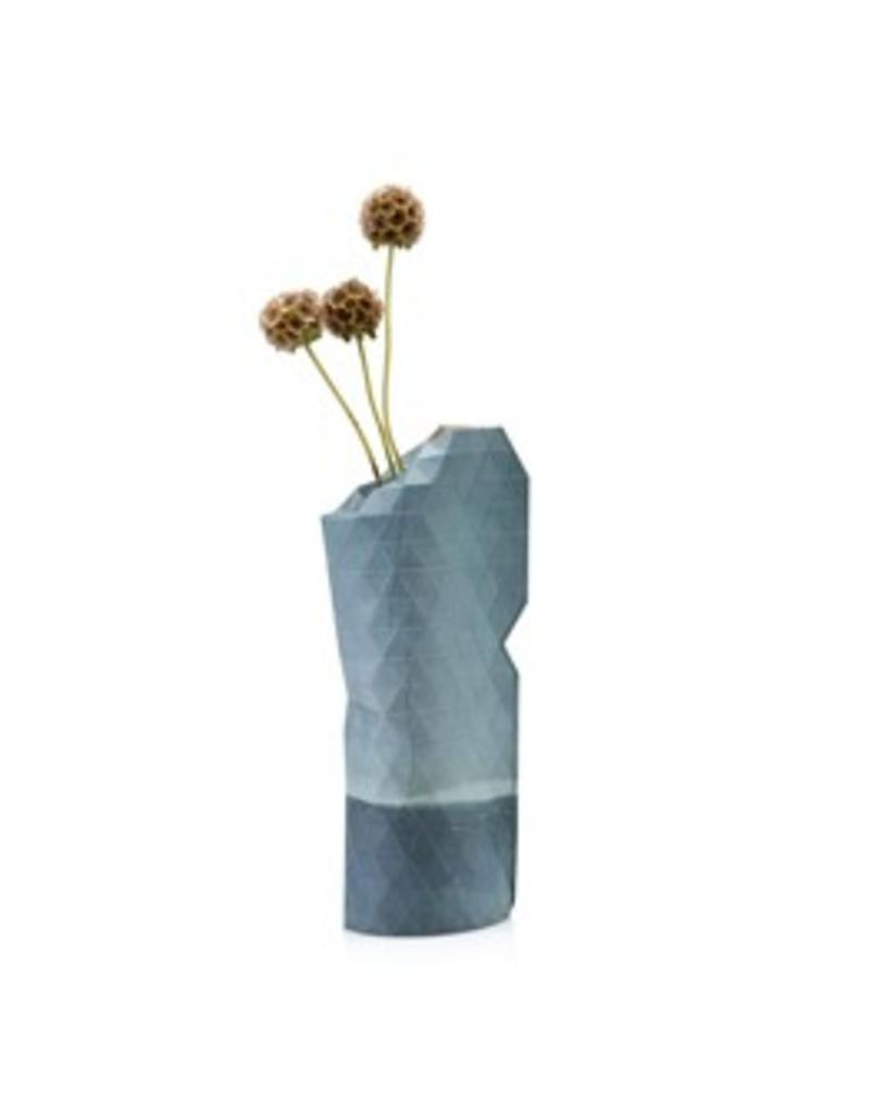 Paper Vase Cover Watercolour Blue (small)