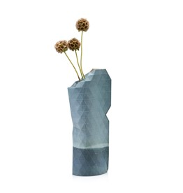 Paper Vase Cover Watercolor Blue (small)