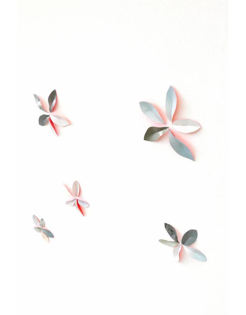Wallpaper Leaves Pink